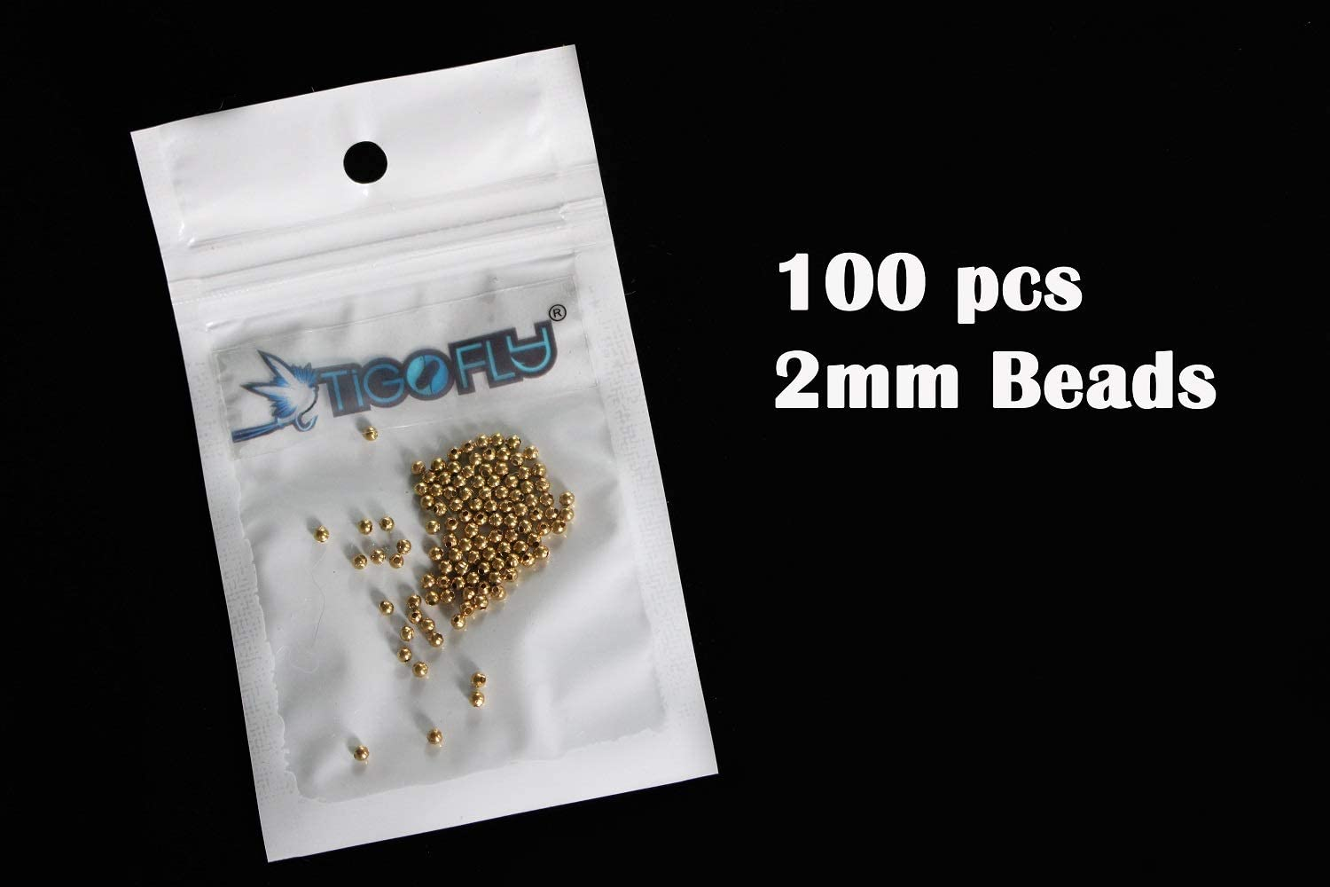 Tigofly 100 pcs//lot 2mm//3mm//4mm Copper Beads Fly Tying Beads Weight Nymph Head Jig Fly Tying Materials Fly Fishing