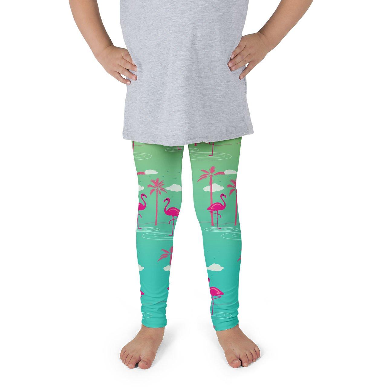 Flamingos In Sunglasses Kids Leggings
