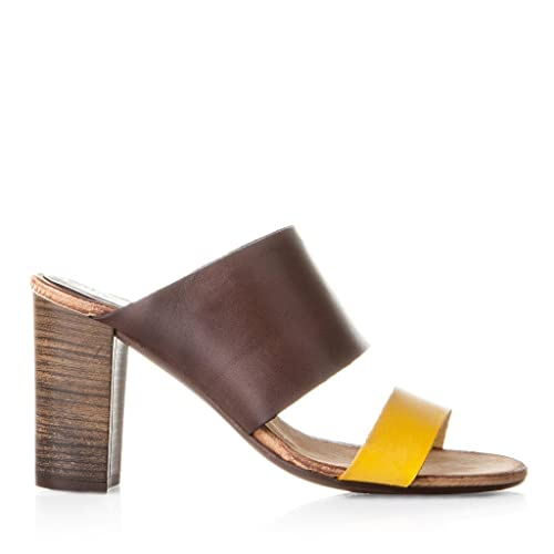 2cfaf7d5781 EVA LOPEZ Sandalia Sandalia Tiras Piel Cuero Y Moka Moka-Mostaza EU 41   Amazon.es  Zapatos y complementos