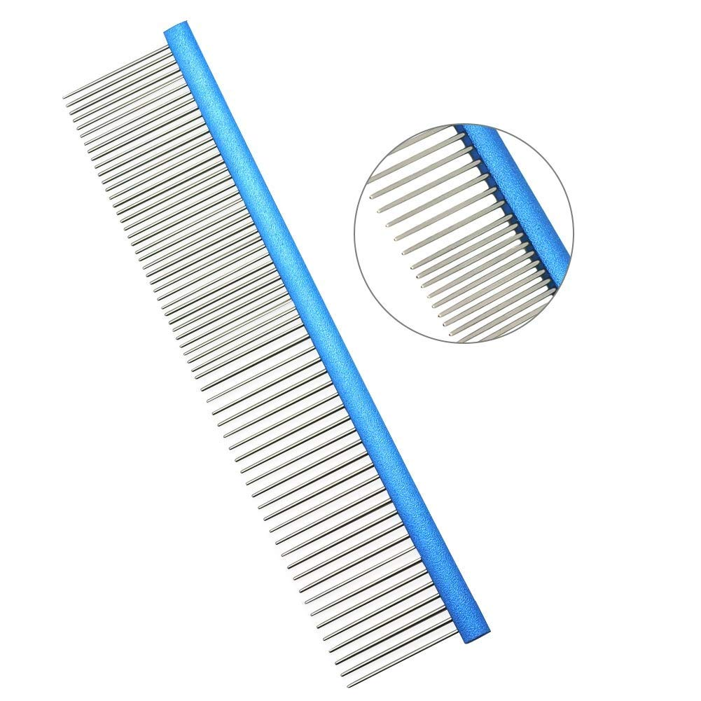 HW Stainless Steel Comb Pet Grooming Brush for Dog and Cats Anti-Static Hair Shedding Comb by HW