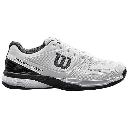 Wilson RUSH COMP Clay Court, Zapatillas de tenis hombre, todos los niveles, tierra batida, tejido/sintético, blanco/negro: Amazon.es: Zapatos y complementos