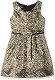 Amy Byer Girls' Big Sleeveless Fit and Flare Dress, Pat F/Gold Cobra, 14