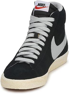 Nike blazer mid premium vintage 538282 010 42 8.5 noir baskets mode homme
