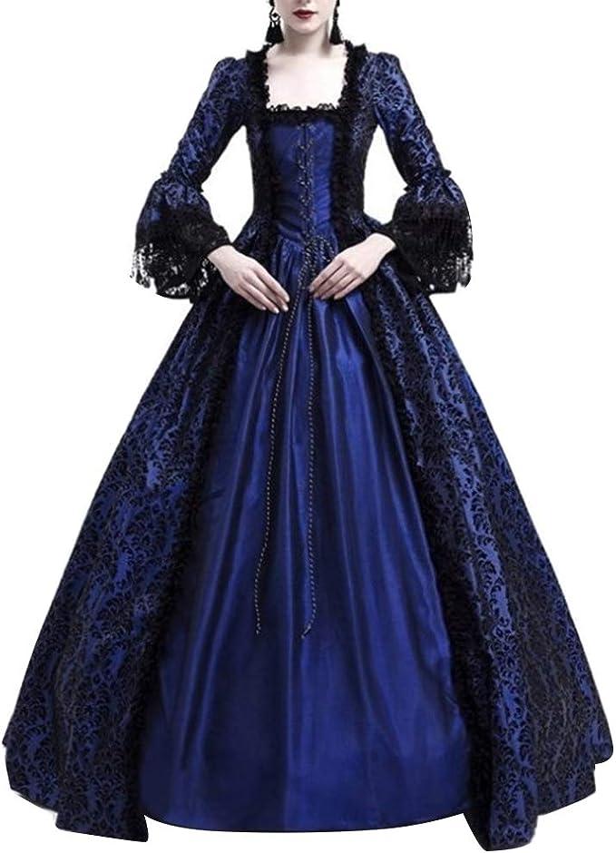 GladiolusA Disfraz De Medieval para Mujer Vestido Renacentista ...