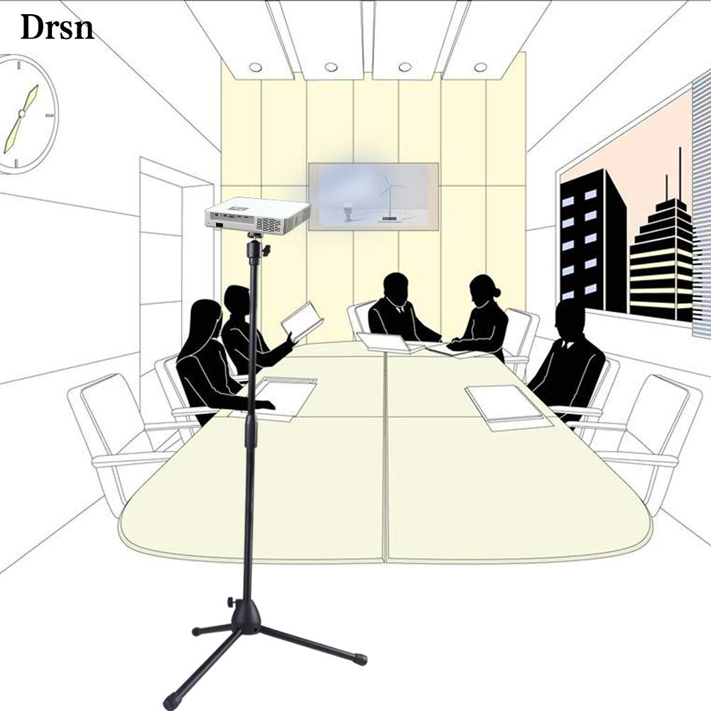 Drsn Universal Drop Ceiling Projector Mount 31.5-59 in Silver Height 360/°Rotation Extendable High Profile Projector Hanger Long Projector Bracket Multifunctional for Projectors CCTV DVR Camera