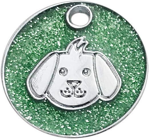 Vovo Mode - Etiquetas de identificación de Animales Familiares grabadas con láser para Perro/Gato (9 Colores): Amazon.es: Productos para mascotas