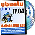 Ubuntu 17.04, Newest Linux Release 4-discs DVD Installation and Reference Set