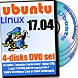 Software : Ubuntu 17.04, Newest Linux Release 4-discs DVD Installation and Reference Set
