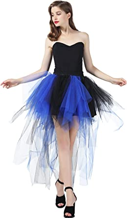 BEAUTELICATE Falda de Tul Mujer Tutu Ballet Disfraz Steampunk ...