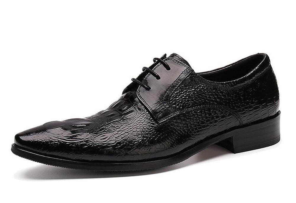 Männer Oxford Brogue Neue Business Suits Schuhe Herren Schuhe Krokodil Pattern Authentic Spitz Schuhe