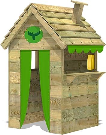 FATMOOSE Casa de juegos de madera BeetleBox Bling XXL, Parque infantil para el jardín, Casita de exterior para niños: Amazon.es: Bricolaje y herramientas