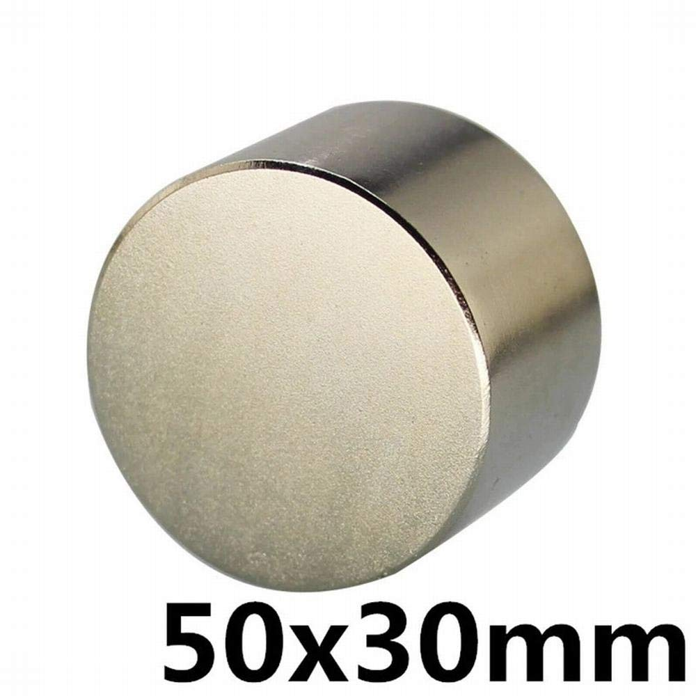 Silver - 1pcs N35 Dia 50x30 mm hot Round Magnet Strong Rare Earth Neodymium Magnetic Wholesale 50mm x 30 mm