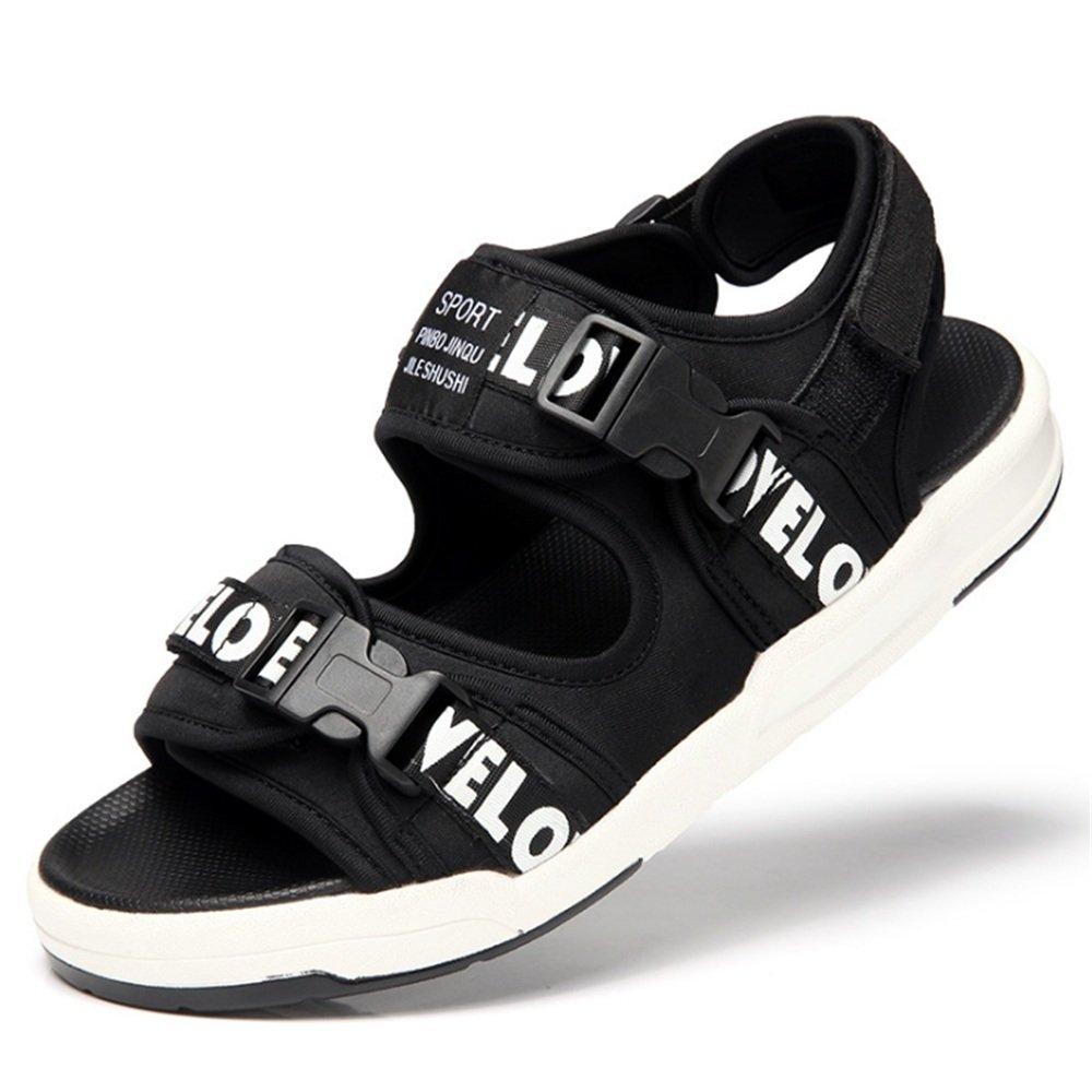 Sandalia para Hombres Al Aire Libre Deportes Antideslizantes Zapatos De Playa Sandalias Transpirables (24.0-27.0) CM. 38 2/3 EU|Negro