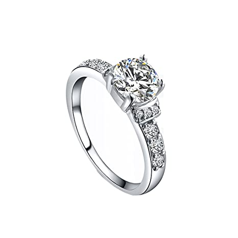 joyliveCY Anillo de dedo de boda para mujer, diseño clásico, talla de Reino Unido