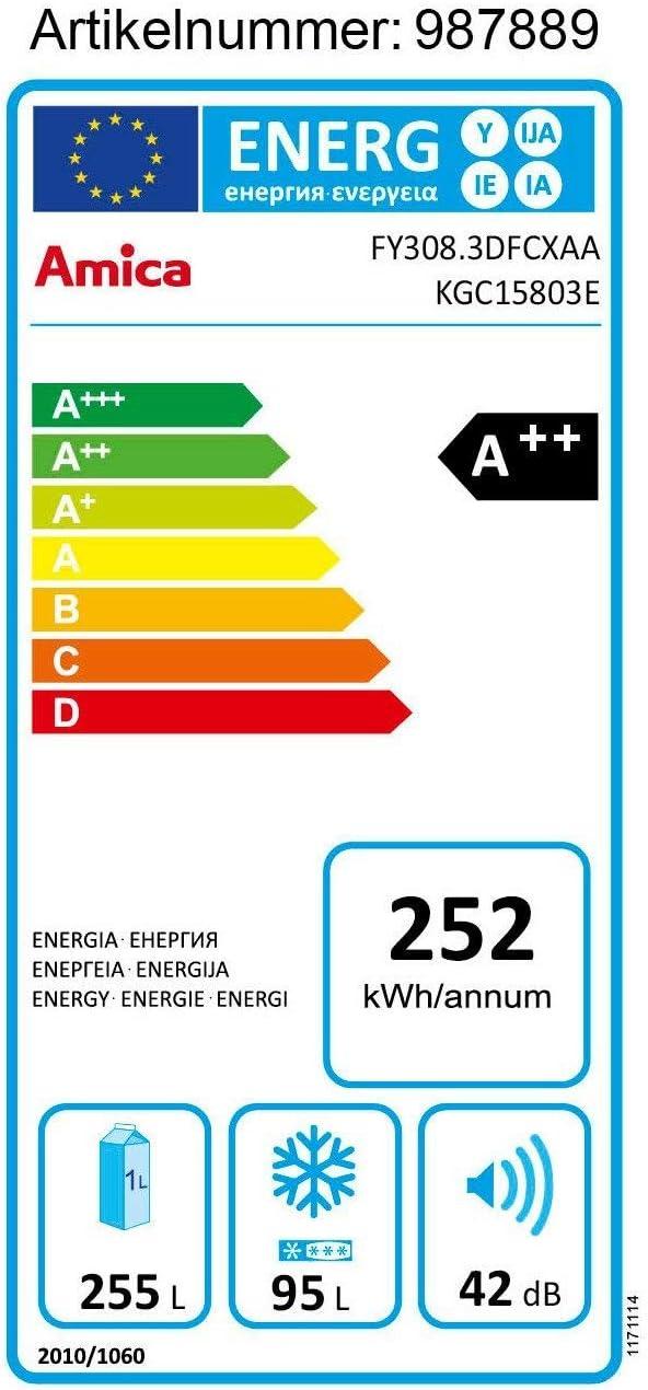 Amica KGC 15803 E Frigorífico (a + +, 252 kWh/año, 1800 mm de alto ...