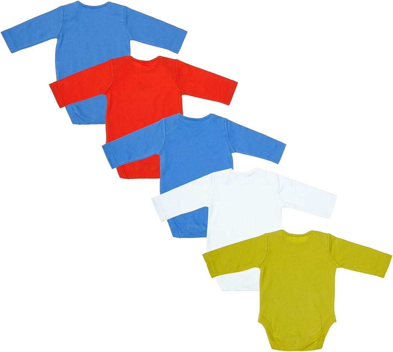 Mothercare Baby Boys B 5 Pack Long Sleeve Dino Body Bodysuit