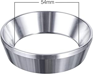 54mm Espresso Dosing Funnel, MATOW Stainless Steel Coffee Dosing Ring Compatible with 54mm Breville Portafilter
