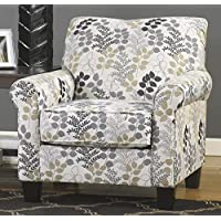 Makonnen Collection 7800021 36 Accent Chair with Fabric Upholstery Piped Stitching Tapered Legs and Contemporary Style in Winter