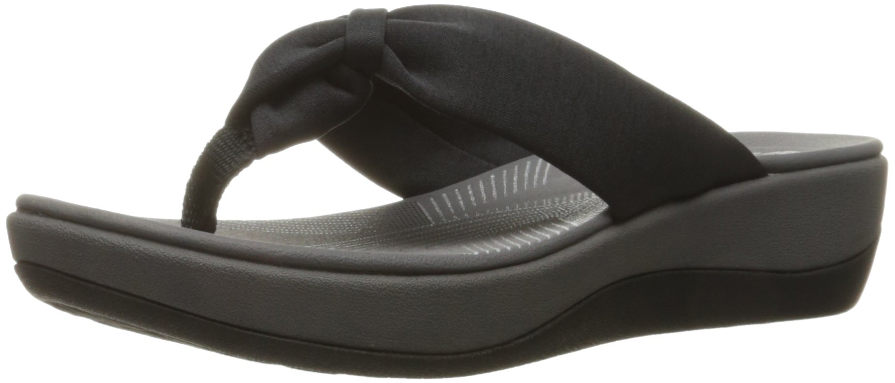 CLARKS Women's Arla Glison Flip-Flop, Black Fabric, 9 Medium US product  image