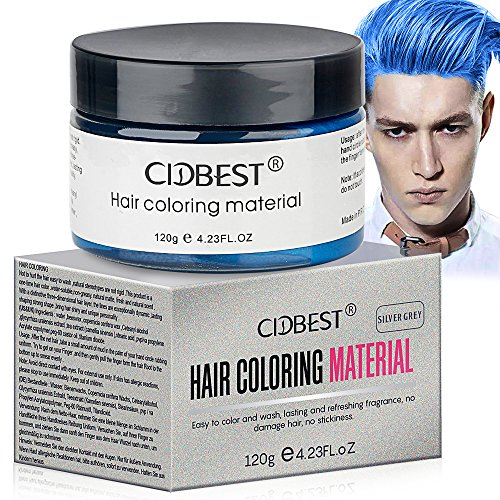 Hair Wax , Blue Hair Color Wax, Temporary Hair Mud Cream, Fresh and Natural Hairstyle Pomades, Natural Matte Hairstyle Hair Dye Wax for Daily use Party, Cosplay (Blue)
