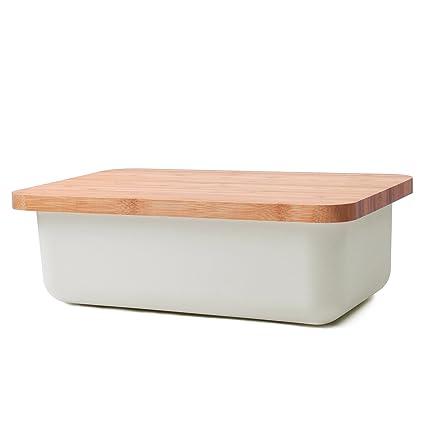 Amazoncom Kinwell Bread Storing Box with Bamboo Fibre Cutting