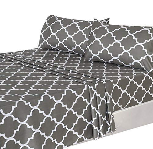 Utopia Bedding 4 Piece Bed Sheets Set  1 Flat Sheet 1 Fitted