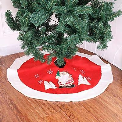 Sici Falda arbol Navidad,Falda Decoración Papá Noel Copo de Nieve ...