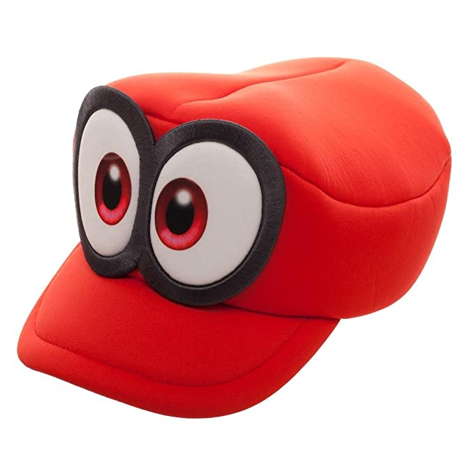 47a12dc80a2 Amazon.com  Nintendo Super Mario Odyssey Cappy Hat Cosplay Accessory Red   Bioworld  Clothing