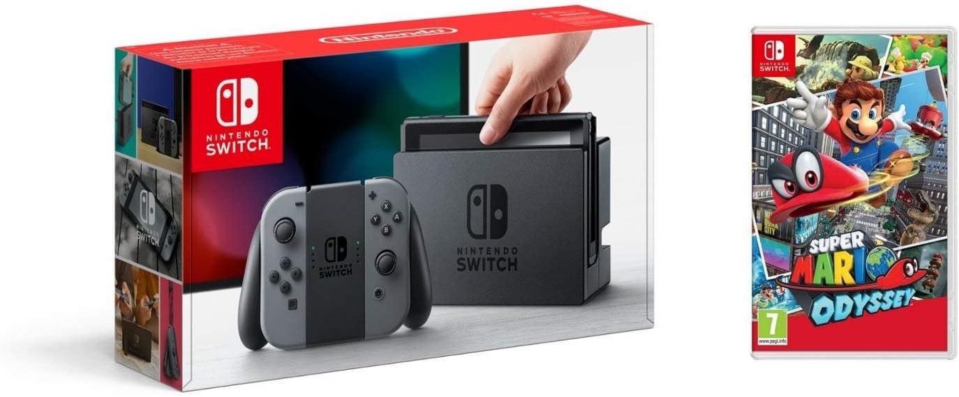 Nintendo Switch - Consola Color Gris + Super Mario Odyssey: Amazon.es: Videojuegos