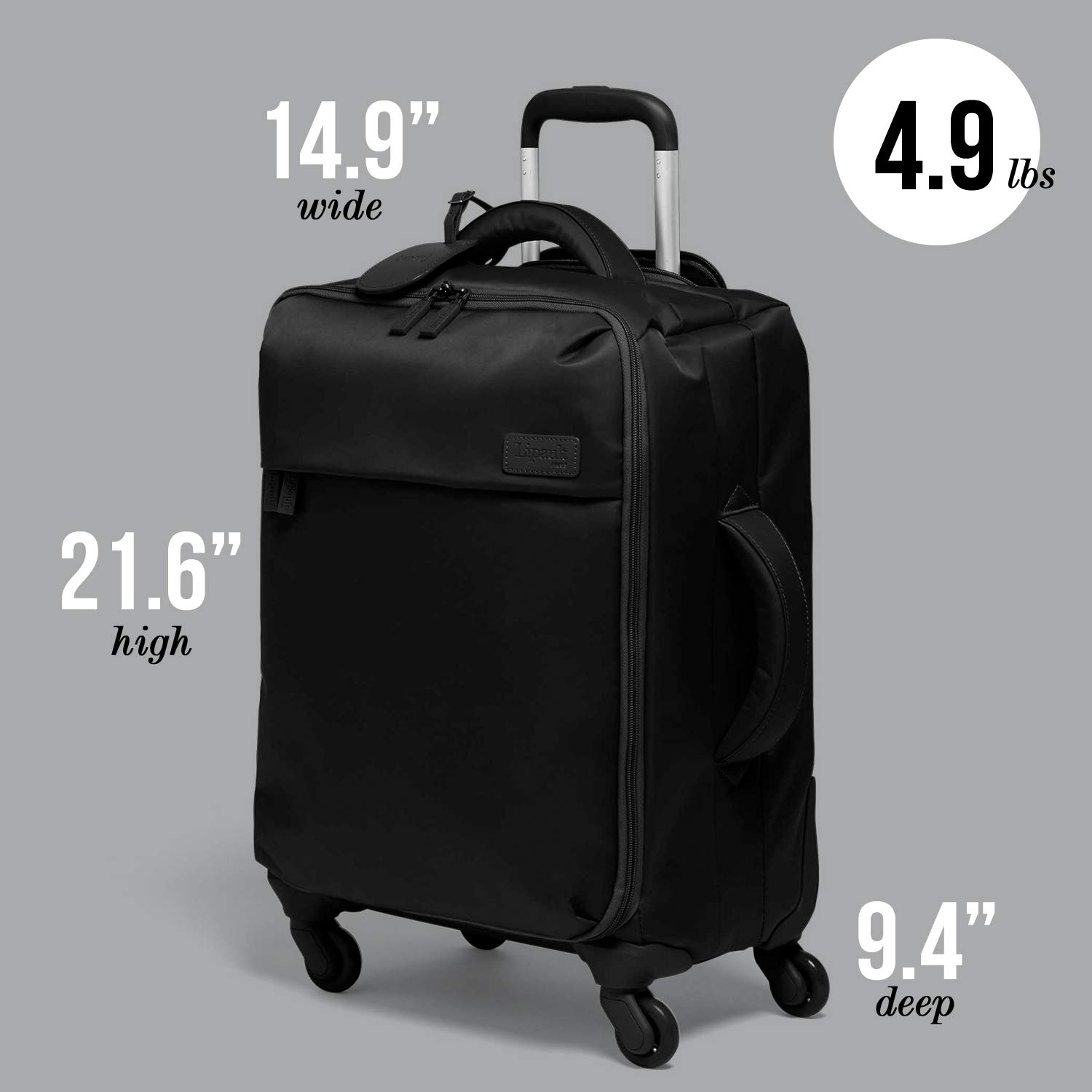 b37e4ac17 Amazon.com | Lipault - Original Plume Spinner 55/20 Luggage - Carry-On  Rolling Bag for Women - Black | Carry-Ons