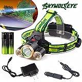 Lolipp 4000 Lumen 3 x XML T6+2R5 LED Headlight Headlamp for Camping, Running, Hiking, 4 Modes LED Headlamps, Battery Powered Helmet Light, Hands-free Camping Headlight