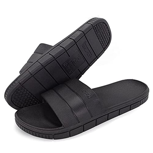 eb1a840b08a6a8 Shower Slippers for Men and Women Antiskid Spa Bath Slippers Comfortable  House Sandal Slippers Black