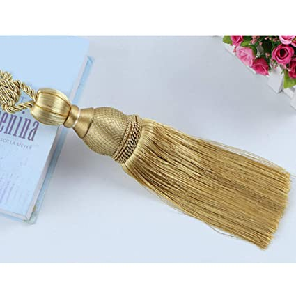 1 Pair Handicraft Metal Flower Decor Tassels Curtain Tiebacks Holdbacks 8 Colors