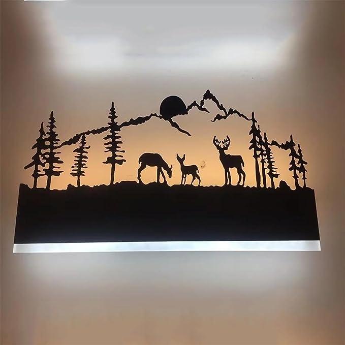 1 opinioni per XINYE LED Lampada da parete Creativo Corpo lampada in ferro Acrilico Cervi