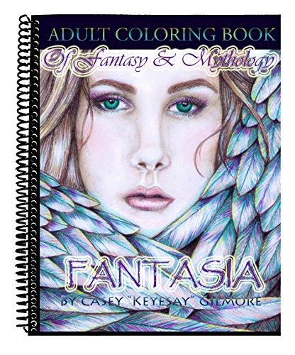Fantasia an adult coloring book of fantasy mythology Coloring books for adults spiral bound