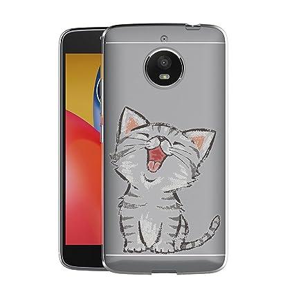 LJSM Funda Motorola Moto G5s Plus Gato Sonriente ...