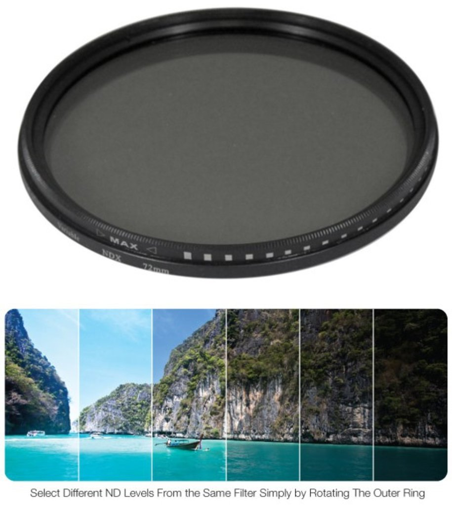 58mm Variable Neutral Density NDX Filter for Panasonic Lumix G X Vario 12-35mm f/2.8 by Grace Photo