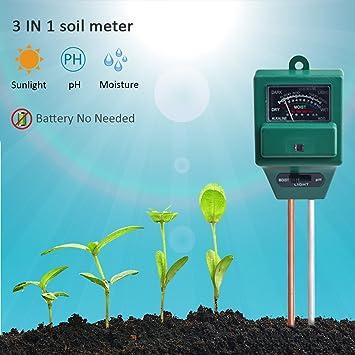 Boden Hygrometer 3 In 1 Ph Tester Boden Wasser Feuchtigkeit Licht Test Meter Für Garten Pflanze Blume Analysatoren