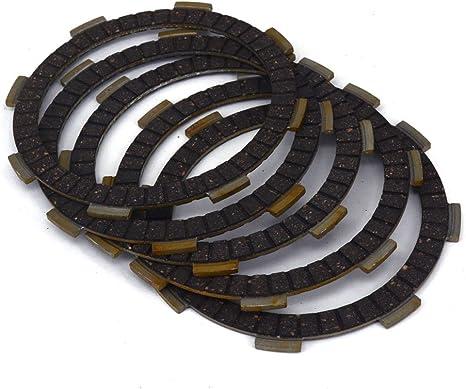 Motorcycle Clutch Plate Discs Set 5pcs for CR80R CG110 CB125S CBR125R CM200T YZF-R125 Street CR80RB CR85R XL125S CRF150F XL185S DF200E TLR200 TR200 XL200R XR200 Dirt ATC200X TRX200 TRX250 KLT160 ATV