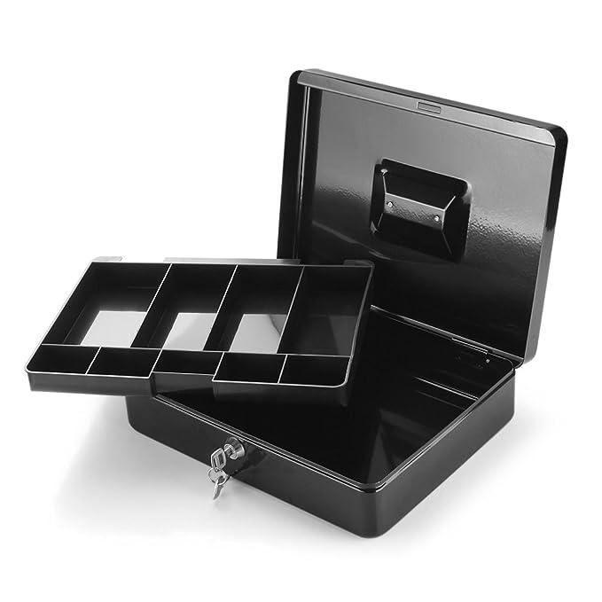 Amazon.com: Flexzion - Caja de dinero con bandeja, caja de ...