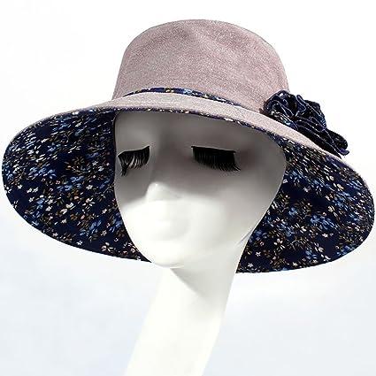 WENJUN Sombrero Mujer Verano Temporada Vacaciones Sombrero Protector De Playa  Sombreros Grandes Sombrero Grande Sombrero Al 679be88df93