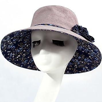ccc25995d8135 WENJUN Sombrero Mujer Verano Temporada Vacaciones Sombrero Protector De Playa  Sombreros Grandes Sombrero Grande Sombrero Al Aire Libre Algodón Sombrero  Anti ...