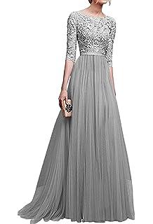 e8813790f Minetom Mujer Vestidos De Noche Fiesta Elegante Largos Bodas Vestido De  Gasa Atractivo 3 4