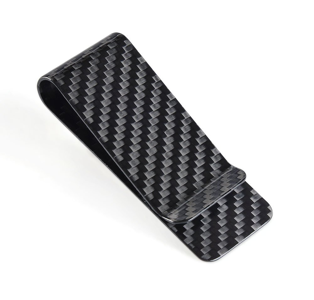 Carbon Fiber Matte Money Clip CL CARBONLIFE® Credit Card Business Card Holder Red M CL-CAMC-000