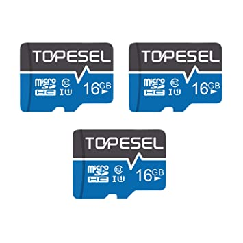 Amazon.com: TOPESEL 16GB Micro SD Card 3 Pack Memory Cards ...