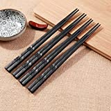 Non-Slip Non-toxic Luxury Alloy Chopsticks Healthy Tableware Reusable Chop Sticks Value Gift for Family Hotel High-temperature Resistance
