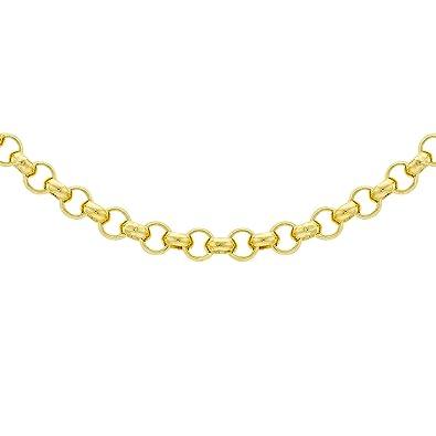 Carissima Gold Unisex 9 ct Yellow Gold Diamond Cut Round Belcher Chain Necklace grOKsFQh