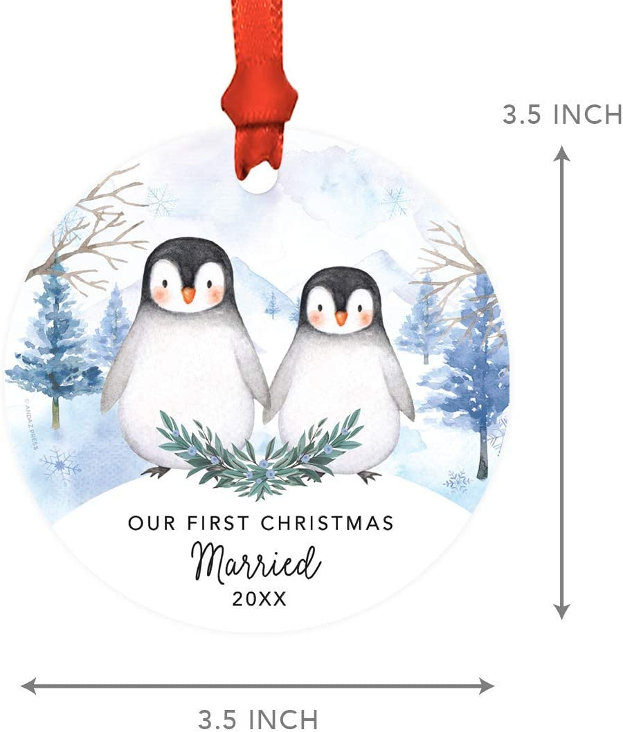 Personalised Penguins Anniversary Special Gift For Him Her 1st 5th 10th 20th