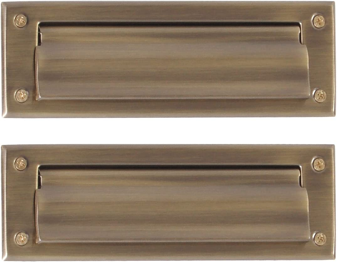 Stainless Steel Brass Accents A07-M0060 Sleeve Mail Slot 3 x 10