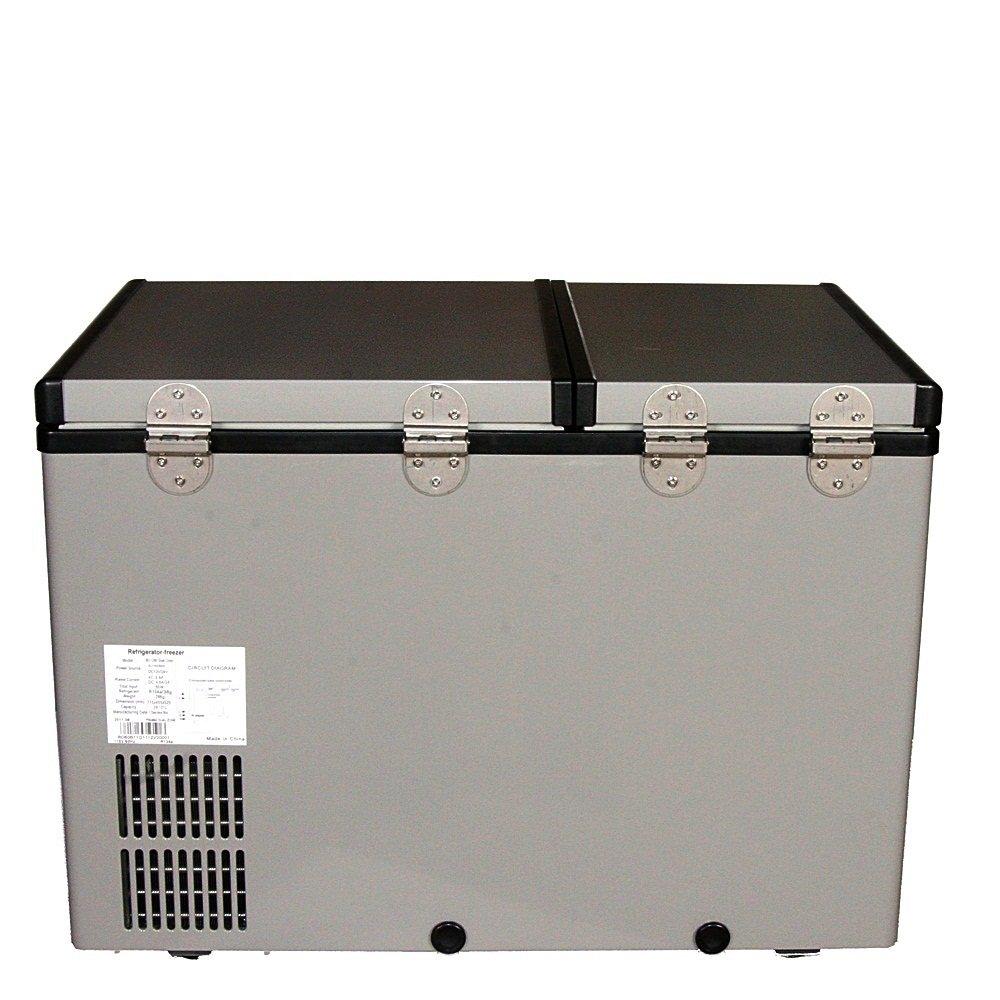 whynter fm-62dz frigorífico/congelador portátil de doble zona, 62 ...